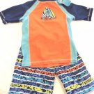 UV SKINZ Boys 3 pc Swimwear Set Top/Shorts/Hat~Surfboards~UPF 50+ Sz-7~NWT