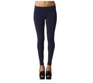 Matty M~ Ladies' Legging Thicker Material Wide Waist Band~Admiral Blue~Sz-S~NWT