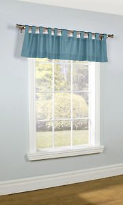 """ThermaLogic Weathermate Insulated Tab Valance~40""""x15""""~Teal Sarcelle~NIP"""