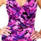 Kirkland Signature by Miraclesuit 1 Piece Swimsuit~Sz-10~Pink/Purple Floral~NWT