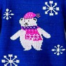 Kobe Kids Girl's Toddler Polar Bear & Snowflakes Sweater~BLUE~Sz-3T~MSRP~$24.99
