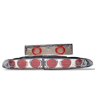 Spyder Chrome Tail Lights~Fits Mitsubishi Eclipse 95-99~ EuroStyle~NEW