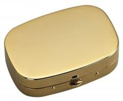 24k Gold-Plated Compact-Pill Box