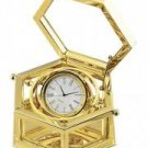 24K Gold Plated Hexagon Desk Clock