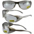 Supra Clear Lens, Lightweight Metal Frame with Side Protection Wings