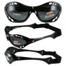 Birdz Seahawk Floating Polarized Sunglasses with Built in Strap Black Frame