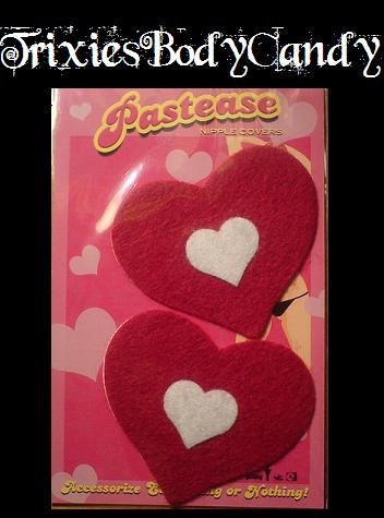 Red Heart Nipple Covers