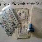 **New Price**   Professional Piercing Kit for 2, 14g Piercings w/ No Barbells