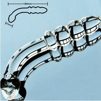 Pyrex glass dildo artificial penis dick crystal anal bead butt plug prostate massage toy