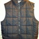 Black nylon girl's size 7/8 fall winter vest quilted zipper front sleeveless GUC