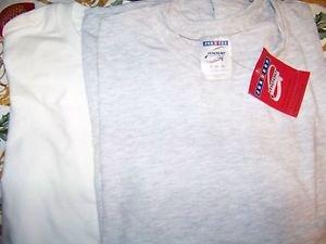 Men 2X XXL basic t-shirt & long sleeve tee NEW gray white JERZEES FALLS CREEK