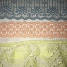 Lot pastel vintage lace trim sewing craft lamp shade doll clothes peach yellow