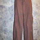 Women's junior size 15 parachute pants lightweight cotton summer spring brown GC