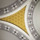 6 CORELLE Floral Connection plates dishes dinnerware white gray yellow geometric