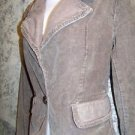 Distressed corduroy womens M blazer jacket career casual brown MAURICES 1 button