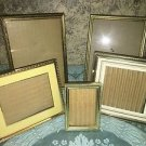 5 embossed vintage gold metal frame photo picture table top easel 2x3 to 5x7 MCM