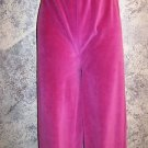 Stretch velour comfy casual lounge pants women's size medium BOBBIE BROOKS pink