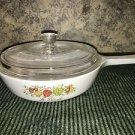"Vintage CORNING WARE Le Persil vegetable pattern small 6.5"" skillet lid stovetop"