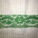 "36 yards vintage green 3/4"" lace seam binding trim St. Patricks sewing crafts"