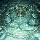 """Vintage antique round casserole dish cover convex bubble dot circle pattern 8.5"""""""