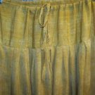 Salwar pleated baggy harem trouser India yoga mustard yellow paisley print pants