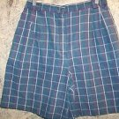 Modest length plaid casual shorts elastic side panels COUNTERPARTS women's 12