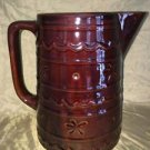 Vtg MARCREST Oven Proof daisy dot large water pitcher Mid Century stoneware GVC