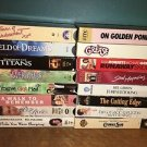 16 VHS VCR movies video tapes PG romantic love story comedy adventure family mix
