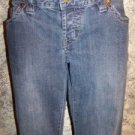 Women's CALVIN KLEIN  8 low waist denim blue jeans boot cut decorative stitching