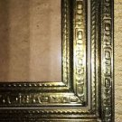"""2 Vintage gold metal embossed photo picture frame 5x7"""" easel wall mid century"""