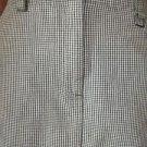 Women's size 6 CHRISTOPHER BANKS knee length skirt GUC cotton checks fall career