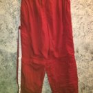 GAP red white stripe zip off wind running pants shorts lined elastic waist M