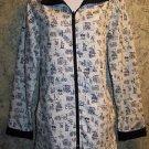 BLAIR reversible black white lightweight jacket coat spring summer matching tote