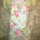VICTORIA'S SECRET lightweight cotton peddle pusher length pajamas pastel floral