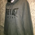 EVERLAST Sport gray black warm pullover hoodie sweatshirt M boxing athletic used