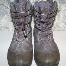 Boy girl size 4 COLUMBIA winter snow boots elastic toggle cord lace up warm used