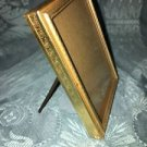 Vintage gold brass metal emboss scroll leaf detail photo picture frame 2.5x3.5