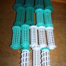Lot of 14 assorted size curlers rollers Lady Remington Glamour Curl 2 spirals