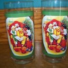"2 CHRISTmas tree 5.25"" tall Ronald McDonald's reading children vintage glasses"