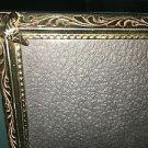 Vintage gold metal embossed photo picture frame 8x10 wedding deco velvet back
