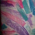 Bold pink teal abstract artsy v-neck pullover scrubs top dental medical nurse M