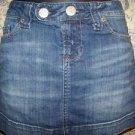 Women's size 2 AMERICAN EAGLE summer spring denim jean micro mini skirt blue GC