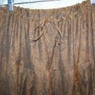 Salwar pleated baggy harem trousers hippie India yoga pants brown floral brocade