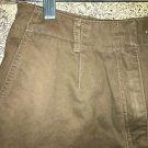 CHRISTOPHER BANKS modest length khaki tan shorts brushed cotton 8 casual dress