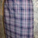 norton studio 12 petite women's lightweight check plaid stretch skirt career GUC