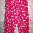 CHRISTmas print lightweight flannel ankle sleep lounge pj pajama bottom pants S