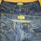 2 pair boy's 12 OLD NAVY boot cut adjustable waist denim blue jeans GUC 5 pocket