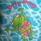 Tie dye swimming frogs blue v-neck scrubs uniform top dental medical nurse vet S