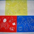 3 DISNEY Winnie Pooh Tigger Piglet 8.5x11 drawing sketching art stencils plastic