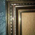 """3 vintage gold brass metal emboss photo picture frames 3.5x5"""" shabby chic MCM"""